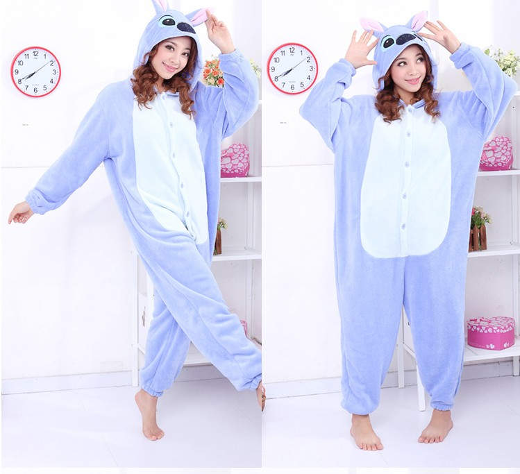 Blue Stitch Adult KIGURUMI Costumes Pajamas Animal Sleepwear Cosplay Pyjamas | eBay