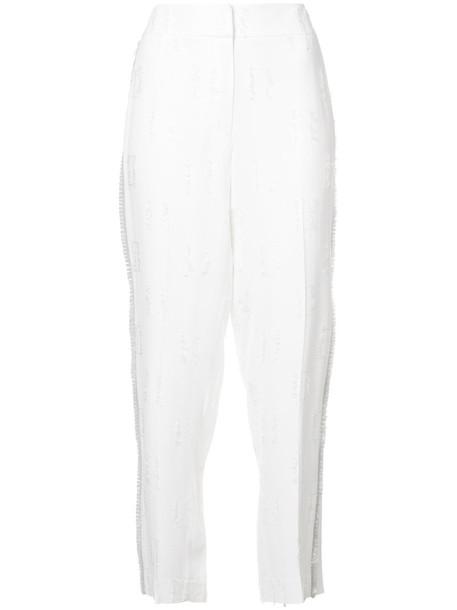 DEREK LAM 10 CROSBY women white pants