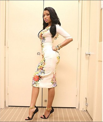 bodycon dress nicki minaj floral dress dress