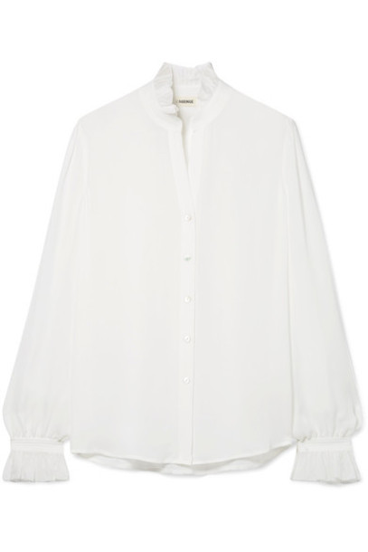 L'Agence blouse silk top