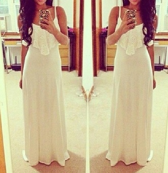 dress clothes fashion long dress white dress girly ivory dress maxi dress wedding dress bridesmaid bridal dresses simple wedding dresses simple dress