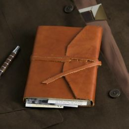 Brown Leather Medieval Wrap Journal w/Tie by Cavallini, Staff of Cavallini | Barnes & Noble