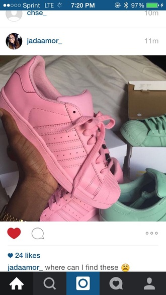 shoes adidas pastel pink adidas shoes clothes pink pink shoes sneakers adidas superstars adidas originals pastel sneakers sports shoes accessories accessory watch gold watch green superstar light pink trainers kicks basketball sportswear fitness adidas supercolor supercolors pink adidas pastel matte pink sneakers