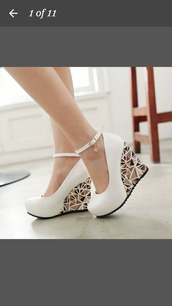 shoes,geometric,wedges,high heels,white,pattern,strappy heels,triangle