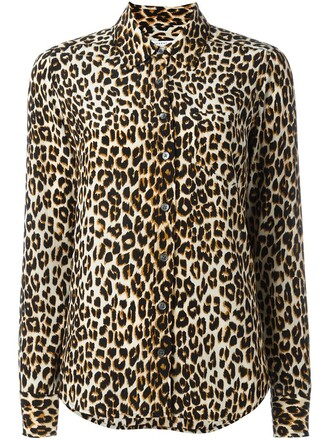 shirt print leopard print brown top