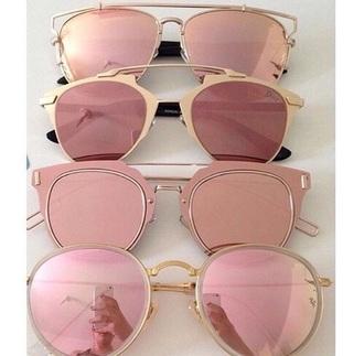 sunglasses kylie jenner gold rose pink
