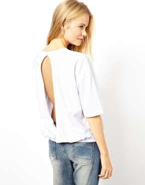 ASOS | ASOS T-Shirt with Open Back and Hem Detail at ASOS