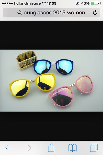sunglasses summer colors colours blue pink mirrored sunglasses home accessory