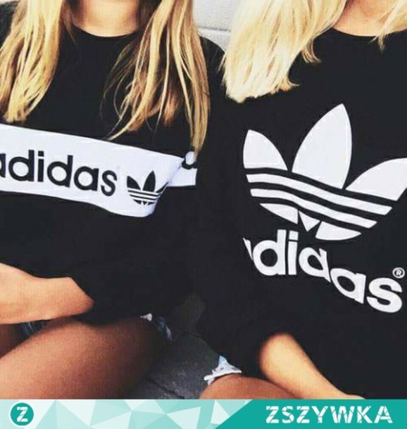 Blouse clothes girl fashion style outfit black adidas blouse adidas sweater shorts Fashion style girl adidas