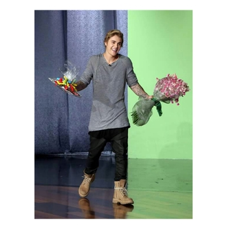 brown combat boots justin bieber combat boots blouse pants shoes