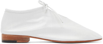 oxfords leather white shoes