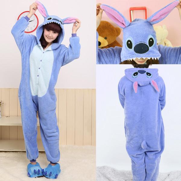 New adults mens ladies fleece onesies sleepsuit cosplay costumes animal pyjamas