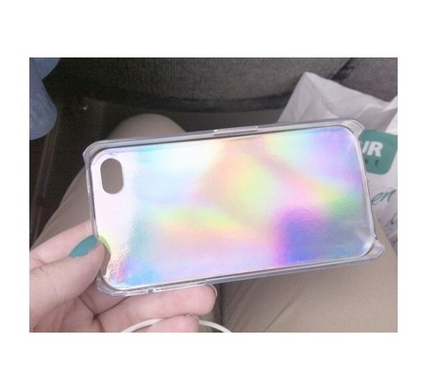 t-shirt iphone iphone 5 case shiny rainbow pink amazing tumblr cute underwear iphone case holographic iphone 4 case phone cover bag holographic phone cover jewels iphone5s phone cover pastel
