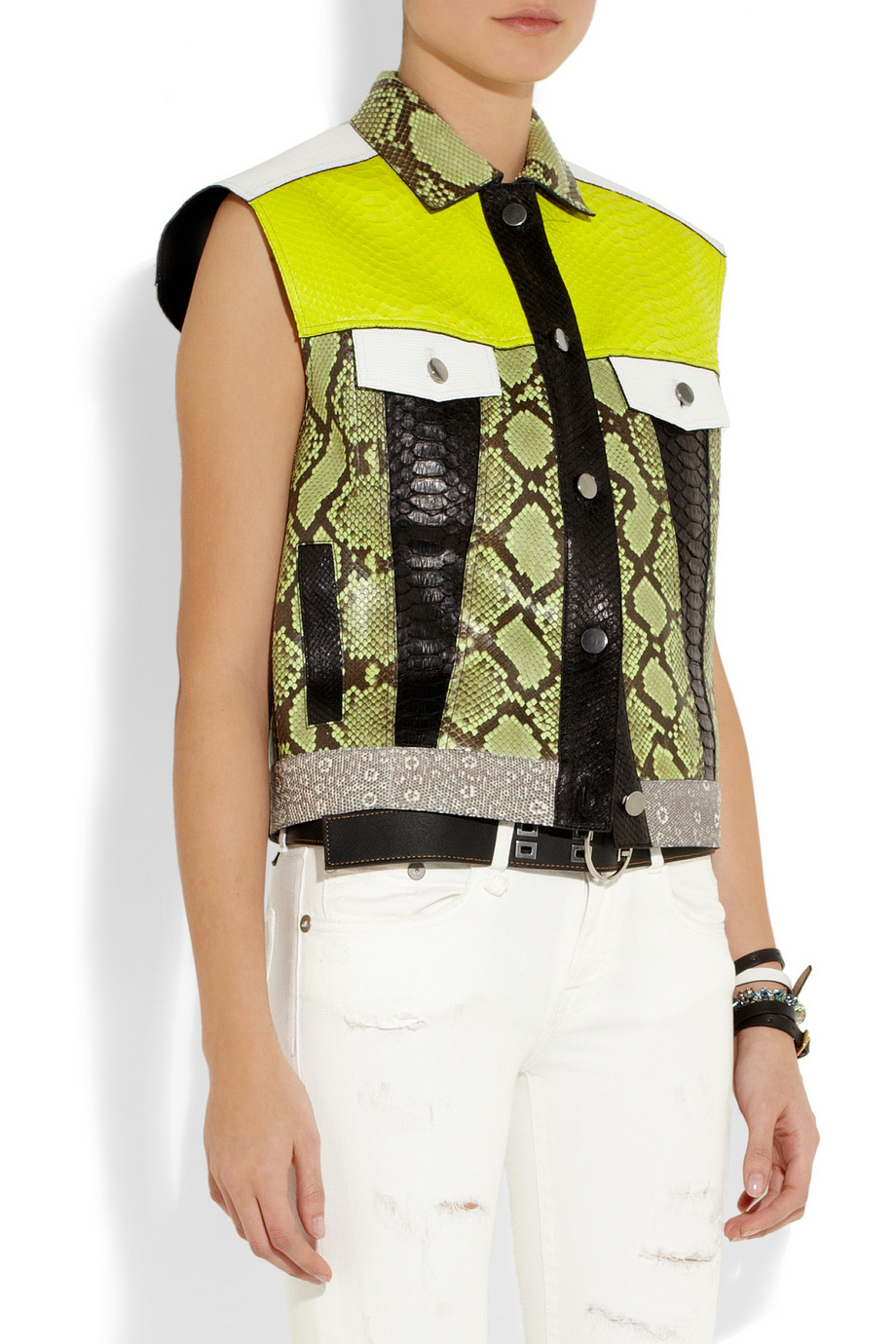 Proenza schouler rubberized python and lizard vest – 50% at the outnet.com