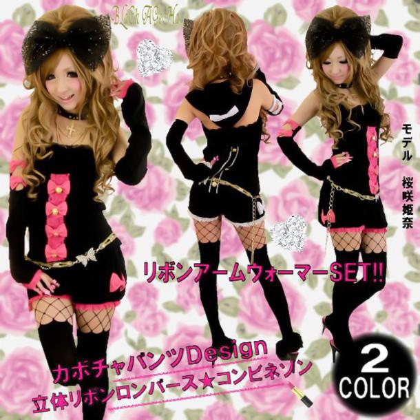 jumpsuit black jumpsuit pink bow