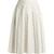 A-line linen-blend skirt