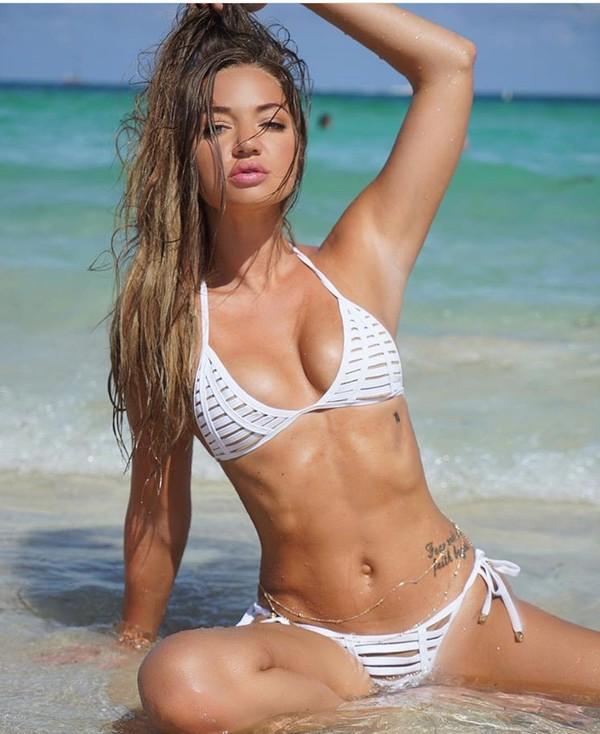 swimwear, white, erika costell, jake paul youtube, bikini ...