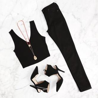 shoes black fashion dark fancy high heels