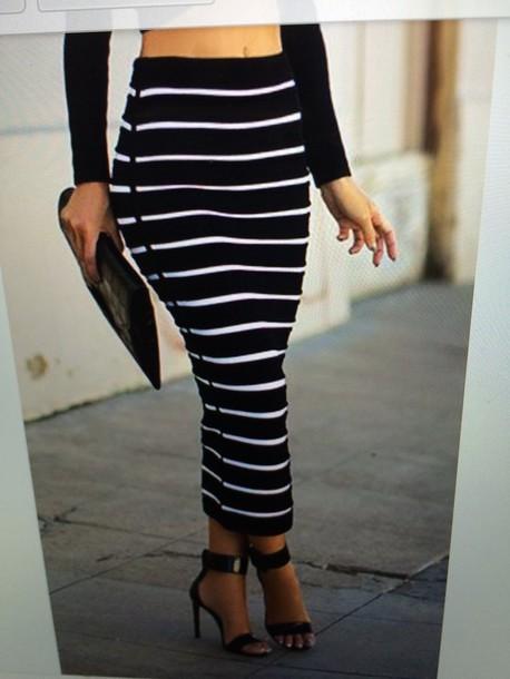 skirt black skirt pencil skirt long skirt