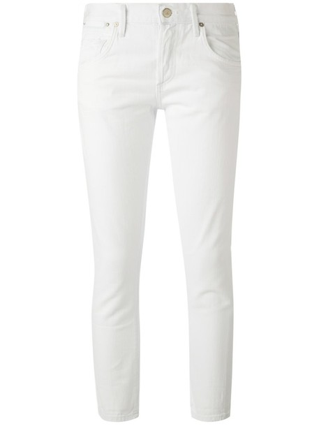 Citizens Of Humanity - cropped slim fit jeans - women - Cotton - 27, White, Cotton