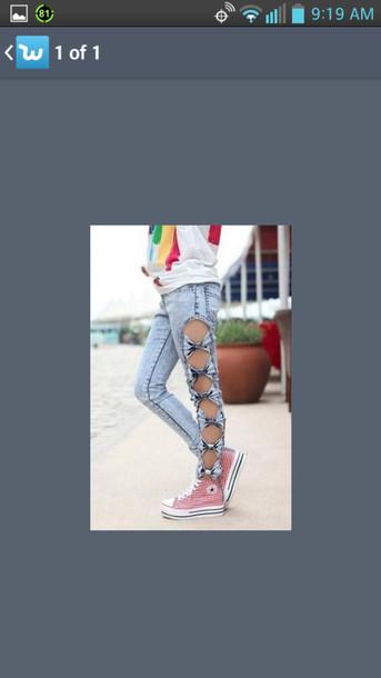 pants bows jeans stylish