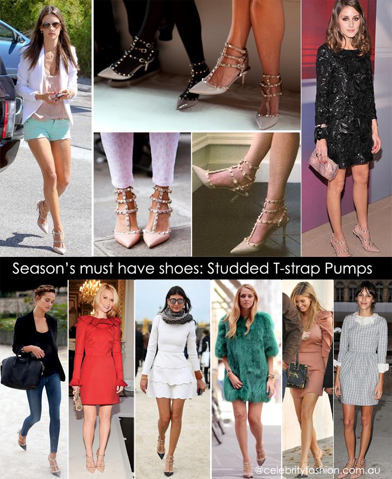 FL H 5 Celebrity Style Ankle T Strap Studded Pointy Toe Heel or Flat Sandals   eBay