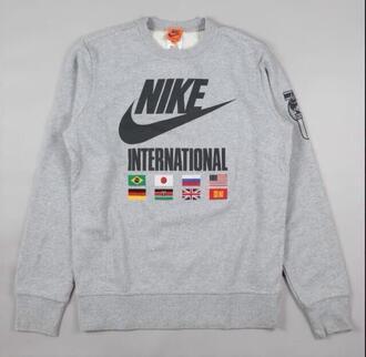 nike clothing crewneck hoodie crewneck sweatshirt international sweater nike sweater nike air nike sneakers nike