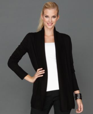 Jones New York Signature Long-Sleeve Open-Front Cardigan - Sweaters - Women - Macy's