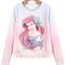 Pre-order: disney princess ariel ombre pink sweatshirt