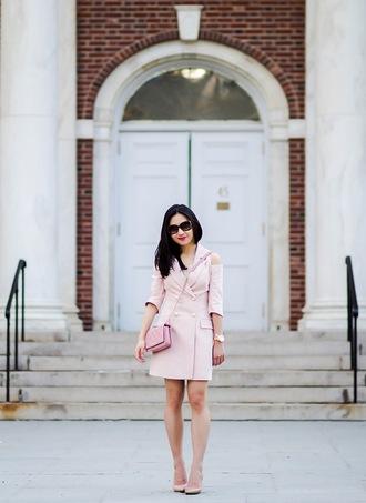 fastfood&fastfashion blogger jacket dress coat t-shirt pants skirt pink bag pink jacket pumps high heel pumps