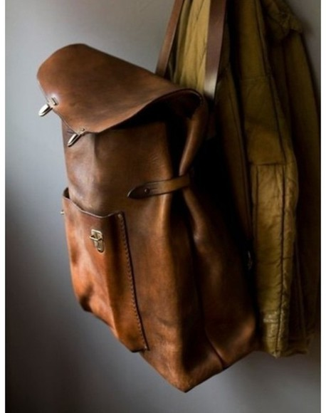 bag hipster brown bag leather antique old school vintage cool grunge