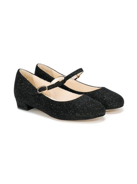 leather cotton black shoes