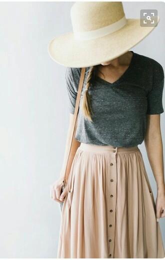 skirt pink floor length spring casual flowy
