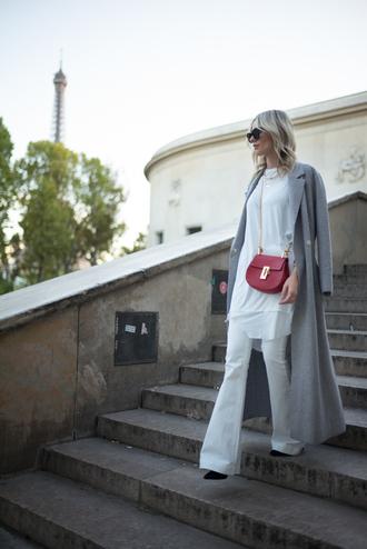lisa rvd blogger coat t-shirt jeans bag
