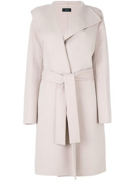 Joseph coat women cotton wool purple pink