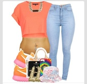 shoes,roshe runs,pink,orange,nike,jeans,sneakers,colorful,dope,yellow,girl