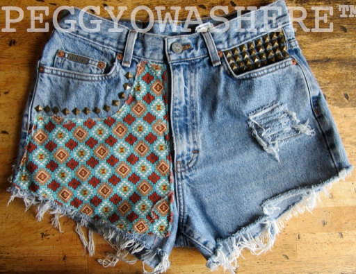 VTG Calvin Klein high waist cut offs denim shorts by PEGGYOWASHERE