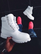 shoes,white,timberlands,streetwear,dope,tumblr,white shoes,white timberlands,timberland,boots,nice,love,grunge