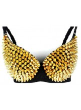 Spike Metallic Bra Top
