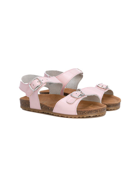sandals leather purple pink shoes