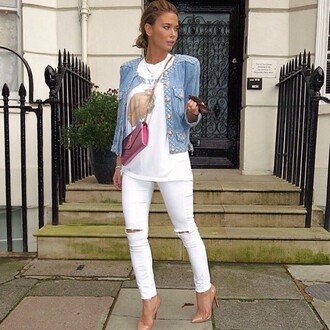 jeans white love