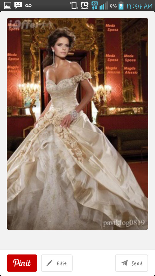 dress skirt vintage wedding dress wedding dress gold roses wedding white ballgown wedding dress ball gown dress royal wedding