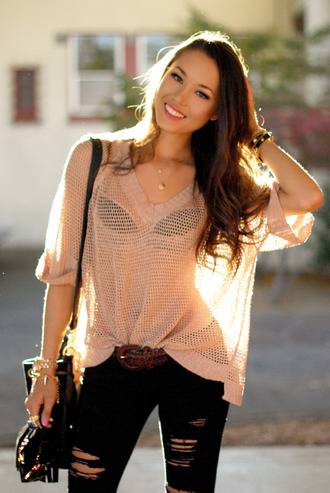hapa time sweater jeans bag jewels shoes sunglasses