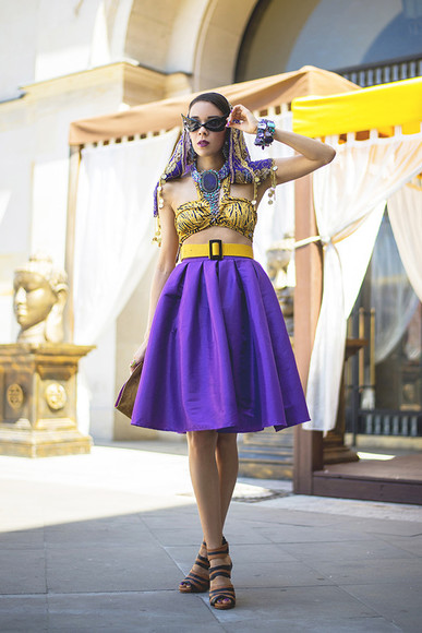 macademian girl top bag shoes jewels sunglasses skirt Belt scarf