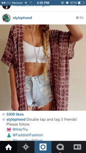 cardigan,shorts,spring,summer,outfit,kimono,floral,fashion,high waisted,white crop tops,crop tops,style,hipster,ripped shorts,denim shorts,light washed shorts,flowy,flowy kimono,High waisted shorts,bohemian,distressed denim shorts,distressed shorts,tank top,blouse,jacket,kimono jacket,red,necklace,red kimono,cute,boho chic,boho kimono,summer shorts,fashion kimono,triangle necklace,aztec style necklace,long necklace,pretty,gorgeous,blonde hair,ombre hair,top,white top,date outfit,indie,denim,cool,clothes,indie boho,stylish,oufit,outfit idea,trendy,fashion inspo,tumblr outfit,tumblr shorts,tumblr clothes,hair/makeup inspo,warm,hair,instagram,blogger,fashionista,chill,rad,on point clothing,girl,short shorts,jewels,shirt
