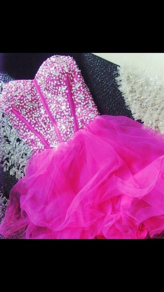 dress prom dress bling sequins rhinestone poufy dress poofy dress