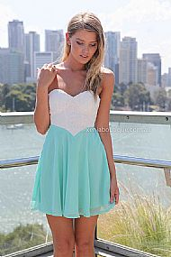 THE PERFECT FAMILY DRESS  , DRESSES, TOPS, BOTTOMS, JACKETS & JUMPERS, ACCESSORIES, SALE, PRE ORDER, NEW ARRIVALS, PLAYSUIT, COLOUR, GIFT CERTIFICATE,,White,Green,LACE,CUT OUT,STRAPLESS Australia, Queensland, Brisbane