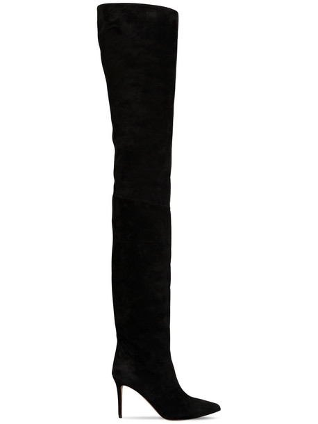 ALEXANDRE VAUTHIER 90mm Alex Suede Thigh High Boots in black