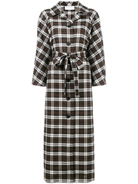 Walk of Shame dress print dress women cotton print wool brown checkered
