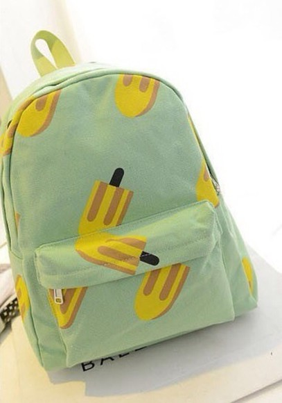 pastel cute bag bags for back to school Bags and Purses ice cream food kawaii